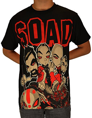 System Of A Down SOAD Metal Band Hand Logo Men's T-Shirt Small Black