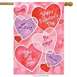 Valentine's Messages House Flag Love Hearts Holiday 28
