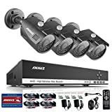 ANNKE 4-Channel HD 1080N Video Security System DVR with 1TB Hard Drive and (4) 1.3MP Bullet Cameras with IR Night Vision and IP66 Weatherproof Housing