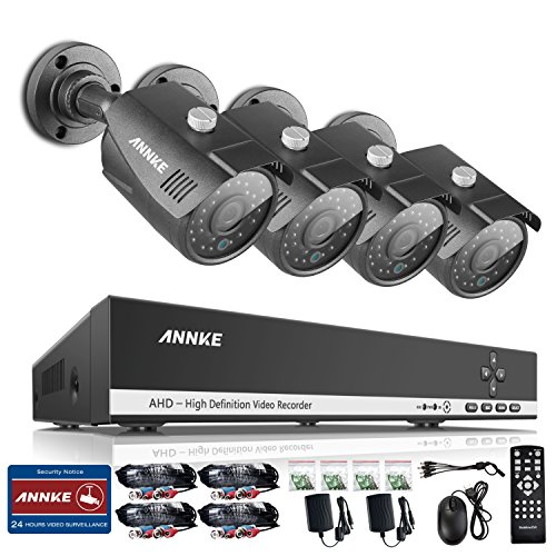 ANNKE 4 Channel Security Cameras Weatherproof