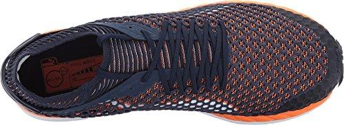 Puma Speed Ignite Netfit Uomo Punta Tonda Tela Sneakers Nere Peacoat / Pesce Pagliaccio Arancione / Puma Bianco