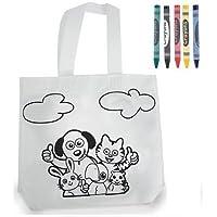 Bolsa infantil para pintar con pinturas de cera