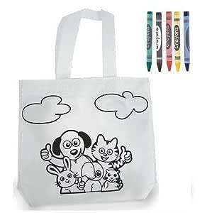 Bolsa infantil para pintar con pinturas de cera - Pack de 10 unidades