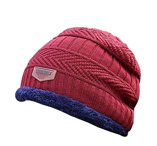 Multicolor35 Sombrero de de de Grueso Temptation Sombrero Punto Hombres Sombrero para 1 Invierno Terciopelo Moda Black Punto Plus TfqYBw