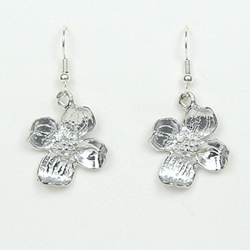 Dogwood Flower Earrings – State Flower Virginia North Carolina symbol of Miracles – Handcrafted Pewter Made in USA