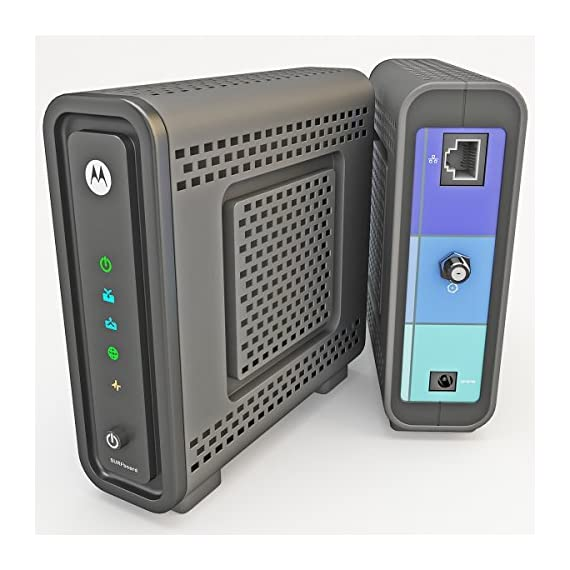 Arris/Motorola SB6121 DOCSIS 3.0 Cable Modem in Non-Retail Packaging (Brown Box) 4 DOCSIS 3.0 certified, capable of up to 172 Mbps and upload speeds up to 131 Mbps based on Cable Internet Service Provider Supports IPv4 and IPv6 networking, as well as Windows, Mac, and Linux computers 10/100/1000Mbps Ethernet port to connect with router or computer