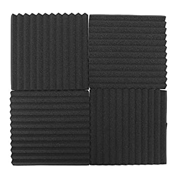 Bearony Espuma insonorizante, 12 Paquetes Insonorización acústica Studio Wedge Foam Tiles Paneles de Pared 30x30x2.5cm: Amazon.es: Hogar
