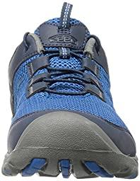 KEEN Kids\' Oakridge Mesh-Y Sandal, True Blue/Gargoyle, 6 M US Big Kid