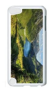 Ipod 5 Case,MOKSHOP Cute austria alps mountain lake Hard Case Protective Shell Cell Phone Cover For Ipod 5 - PC White