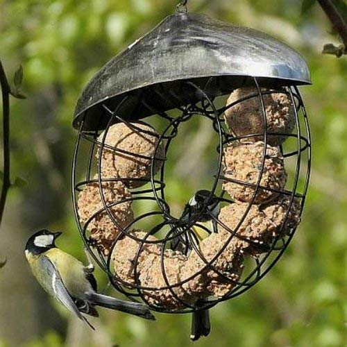 Garden Mile® Pack Of 3 Deluxe Hanging Donut Bird Feeder. Suet Fat Ball Peanut And Seed Garden Bird Feeders Easy Clean and Fill (One Of Each)