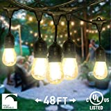 Best Globe Electric Dimmer Switches - NITOR Lighting LED String Lights, Outdoor, Dimmable, 48ft Review