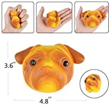 Aolige Jumbo Squishies Cute Dog Head Kawaii Cream Scented Very Slow Rising Bow Tie Sneakers Decompression Squeeze Kids Simulation Toys