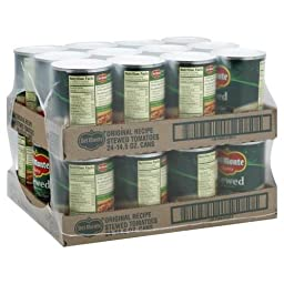 Del Monte Stewed Tomatoes Onion Celery & Green Peppers 14.5 oz (Pack of 24)