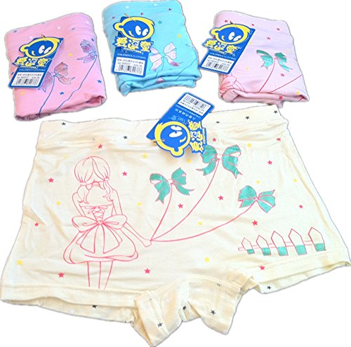 kulala little girls bowknot princess Modal cotton underwear 2 pack (6-8T) from kulala