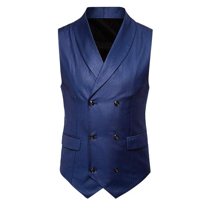 a227b732 ALIKEEY Hombres Chaqueta De Abrigo Sin Mangas Estampado Plaid Button Casual  Chaleco Blusa Traje Británico Vestir Fiesta Gemelos Cuadros: Amazon.es:  Ropa y ...