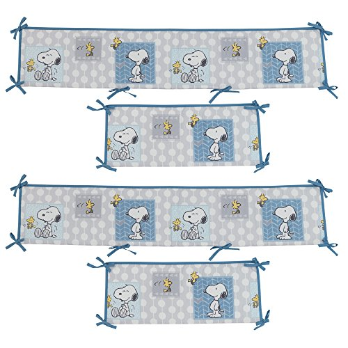 Bedtime Originals Peanuts Forever Snoopy 4 Piece Crib Bumper, (4 Piece Bumper Set)