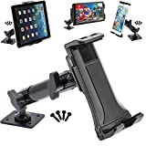 ChargerCity 6'' inch Jax Aluminum Mount w/Heavy Duty Dual Swivel Joint Drill Base for Smartphone & Midsize Tablet Holder for iPad Air Mini 9.7 iPhone X 8 7 Plus XR XS MAX Galaxy Tab E S S9 Note
