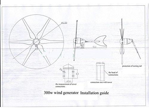 gowe 300w wind generator  500w dc 15v ac180v