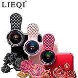 LIEQI JAPAN F-520 スマホ用カメラレンズ 広角レンズ iphone セルカレンズ メーカー保証12ヶ月付き (レッド)