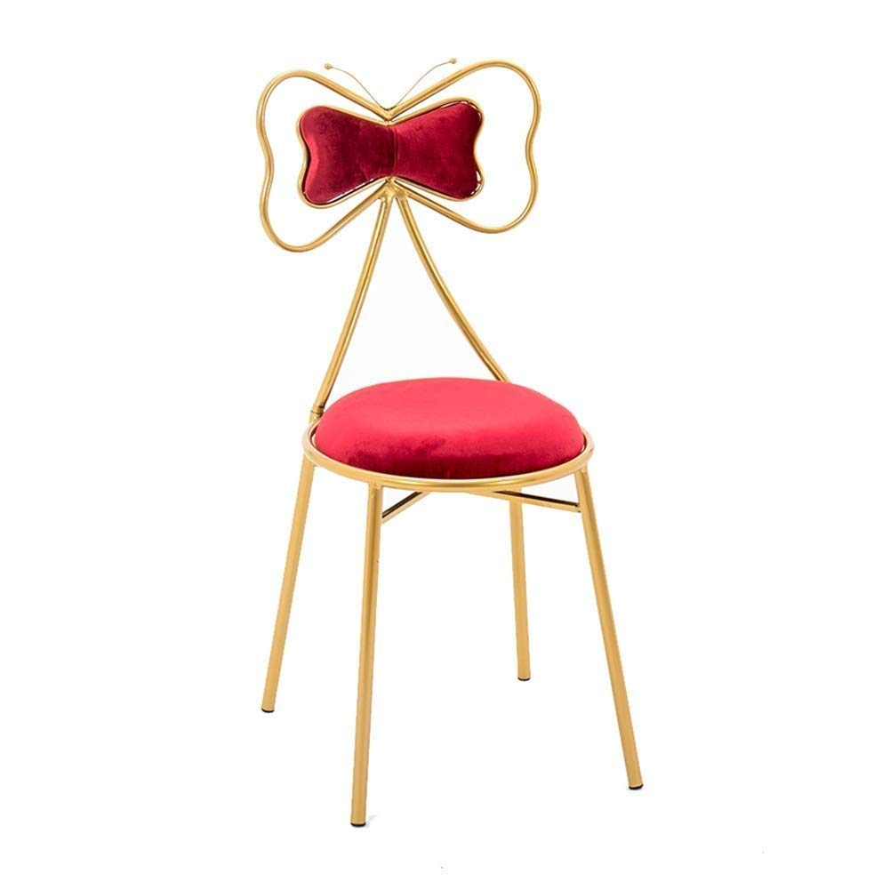 D Nordic Butterfly Bar Chair Breakfast Chair Makeup Stool Backrest for Family Coffee Shop Kitchen Multi color Optional (color   A)