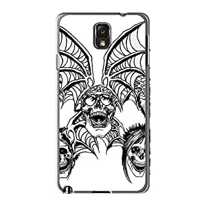 ErleneRobinson Samsung Galaxy Note3 Shockproof Cell-phone Hard Covers Allow Personal Design Beautiful Avenged Sevenfold Band A7X Image [WRC4351tJiz]