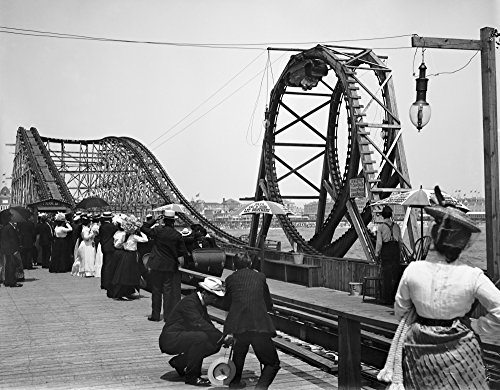 Atlantic City C1902 Nthe Roller Coaster Known As Loop The Loop On The Waterfront In Atlantic City New Jersey Photograph C1902 Poster Print by (24 x 36)