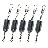 THKFISH Fishing Weights Sinkers,10pcs 10g 12g 20g 25g Fishing Lead Sinker Combo Drilled Fishing Lead Weights Swivels Hooks Lures Connector Fishing Tackle