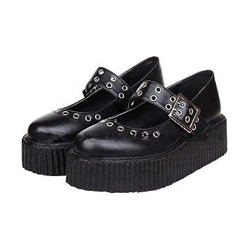 f833016ce54 PINGXIANNV Zapatos De Lolita Zapatos De Mujer Zapatos De Plataforma Zapatos  Punk Gruesos Zapatos De Hebilla: Amazon.es: Deportes y aire libre