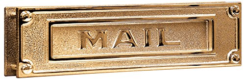 Salsbury Industries 4075B Deluxe Solid Brass Mail Slot, Brass Finish
