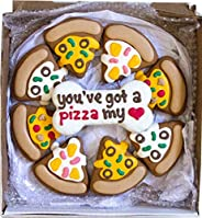 Wüfers Pizza My Heart Dog Cookie Box | Handmade Hand-Decorated Dog Treats | Dog Gift Box Made with Locally Sou