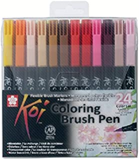 Amazon.com: Sakura XBR-12SA 12-Piece Koi Assorted Coloring Brush Pen Set