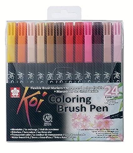 Amazon.com: Sakura Koi Coloring Brush Pen Set (24 Color Set): Arts ...