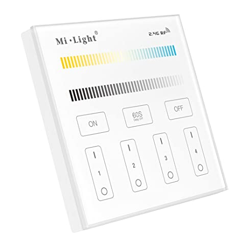 2*aaa Battery Milight B2 Milight B2 4-zone Cct Adjust Smart Panel Remote Controller 2.4ghz Led Bulb Controller 3v Rgb Controlers