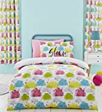 Catherine Lansfield Clouds Duvet Cover Set, Multi, Double
