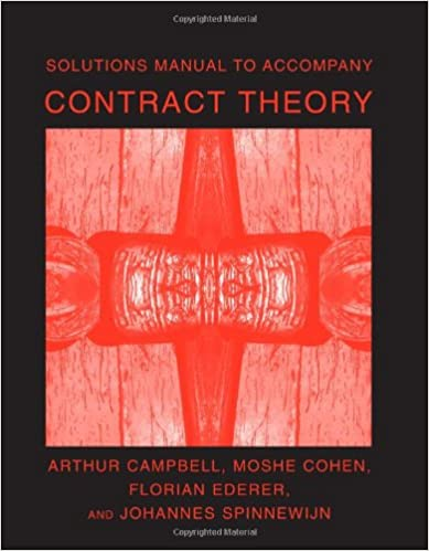 Solutions manual to accompany contract theory mit press solutions manual to accompany contract theory mit press 9780262532990 economics books amazon fandeluxe Image collections