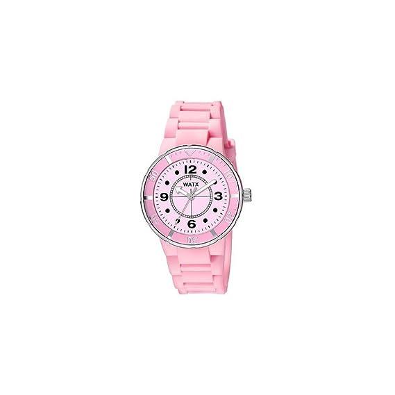 Watx Reloj Análogo clásico para Mujer de Cuarzo con Correa en Caucho RWA1602: WatxandCo: Amazon.es: Relojes