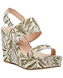 Charles David Women's Jordan Wedge Sandal, Green/Multi, 6 M US