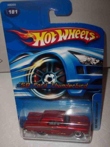 Hot Wheels #2005-181 1958 Ford Thunderbird Rust Color Tinted Windows Collectible Collector Car Mattel 1:64 Scale