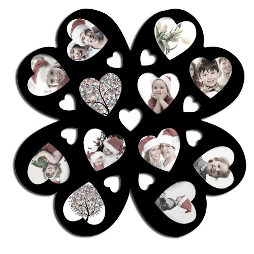 Flower and Heart Collage Picture Frame