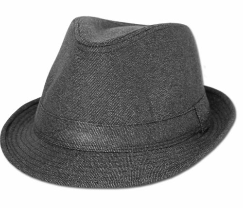 Sakkas EH6521F- Plain Color Unisex Fedora Hat- Grey/L/XL