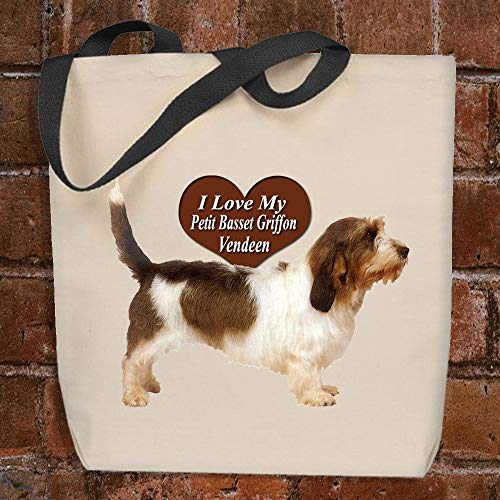 I Love My Petit Basset Griffon Vendeen - Personalized Tote Bag