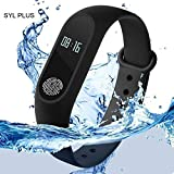 mobicell M2_BAND_BLACK234 Smart Band Heart Rate Sensor Bluetooth 4.0 Activity Tracker