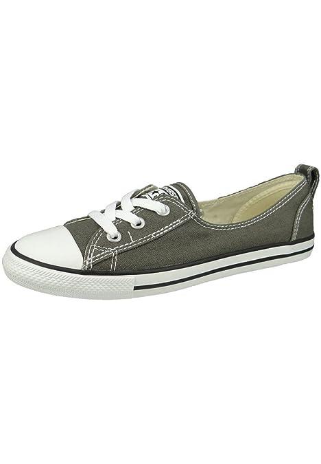 7a9d4ddd4cfc Converse Chuck Taylor Ballet Lace Slip Sneaker Charcoal  Amazon.it  Scarpe  e borse