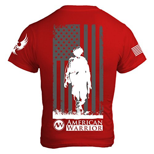 American Warrior Mens DownRange T-Shirt Small Red
