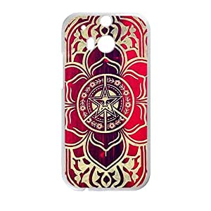 peace and justice obey Red star flowers Cell Phone Case for HTC One M8