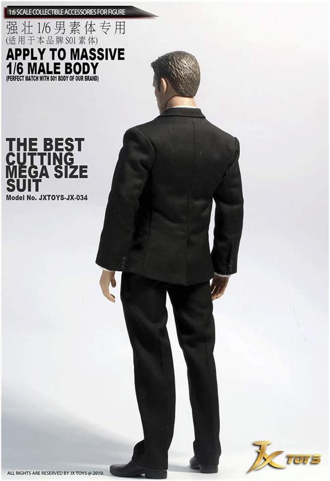 SZDM 1//6JXTOYS-034 Schwarzer Anzug Anzug F/ür Mittelschwere Muskeln HT VERYCOOL TTL Hottoy Phicen