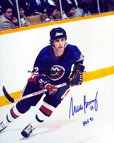 Mike Bossy Autographed Preprint Signed Photo