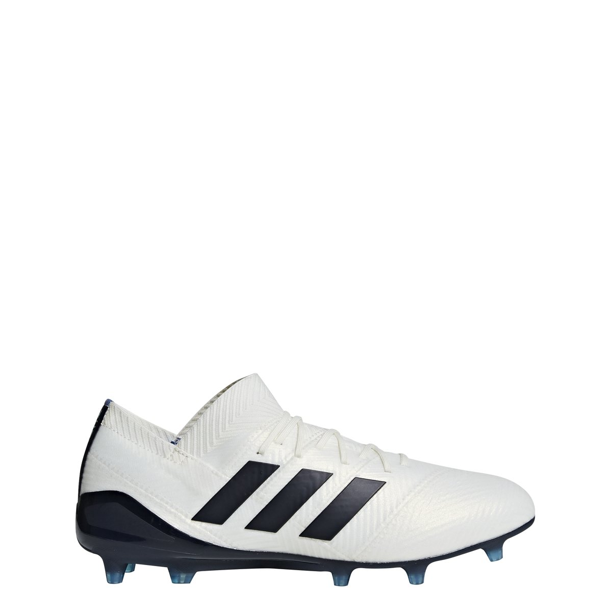 adidas Women's Nemeziz 18.1 FG W Soccer Shoe, Off Off White/Legend Ink/hi Res Blue, 6 Medium US