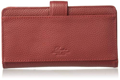 Buxton Hudson Pik-Me-Up Checkbook Keeper, dark red (Checkbook With Snap Cover)