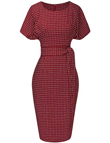 (GownTown Women's 50s 60s Vintage Sexy Fitted Office Pencil)